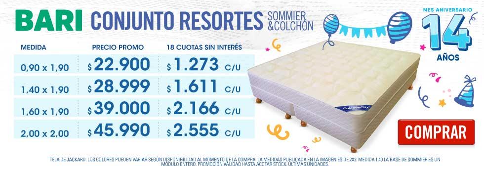 Promo Conjunto Resortes Precio Cuidado Descuento ColchonCity