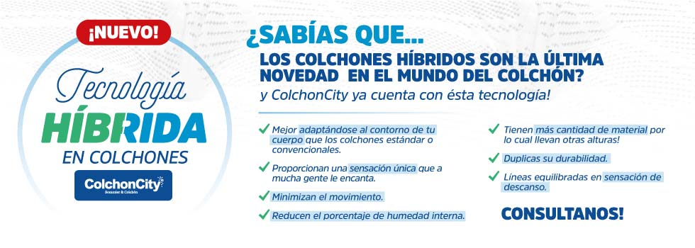 ColchonCity - Colchones con tecnologia hibrida