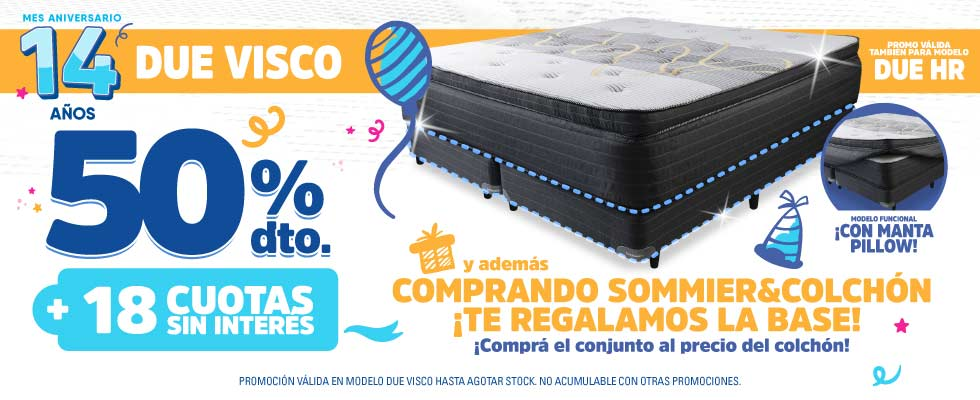Promo Due Visco y Due HR ColchonCity